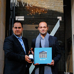 Head sommelier Sven and Rasoul of Le Vieux Pin at La vie 3 michelin star osnabruck Germany.