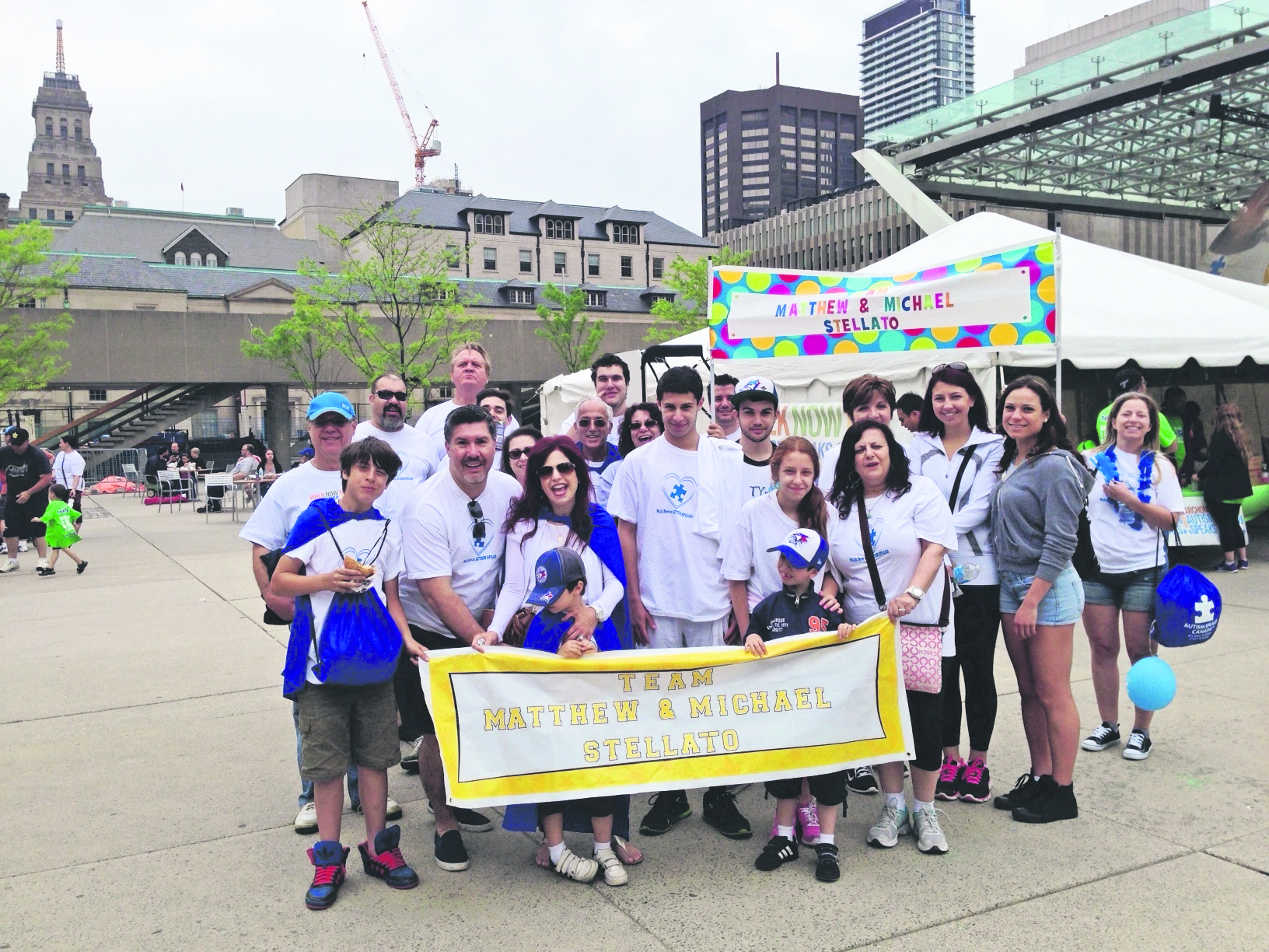 Community support is growing for Walk Now events across the country, says Paul Stellato, who is the local walk ambassador in Toronto and father of two young boys with autism. supplied
