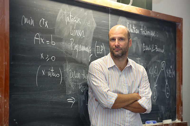 Prof. Andrea Lodi is looking at utilizing mathematical optimization for extracting information from data. supplied