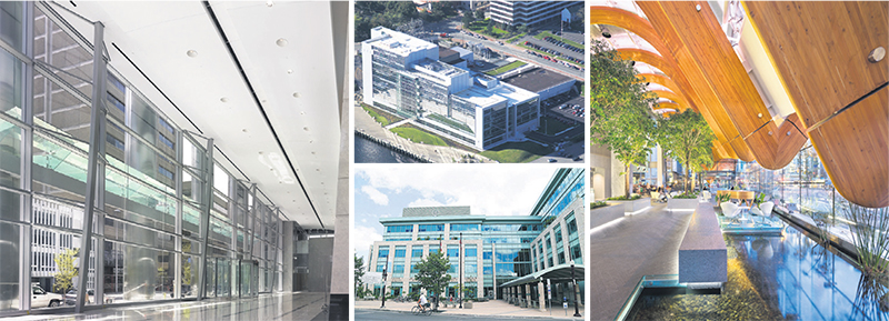 The LEED (Leadership in Energy and Environmental Design) program has seen enormous uptake in Canada over the last decade. Among the notable LEED Platinum-certified buildings across the country are (clockwise from left) TELUS Garden in Vancouver, B.C., Robinson Place in Peterborough, Ontario, Centennial Place in Calgary, Alberta, and Nova Scotia Power Headquarters in Halifax, Nova Scotia. For more information about the buildings' green features, see globeandmail.com/adv/sustainablebuilding. Supplied