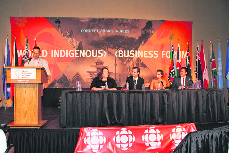 International indigenous leaders gathered in Saskatoon, Saskatchewan, from August 23 to 25 this year to discuss their participation in the economy. Leona McIntyre