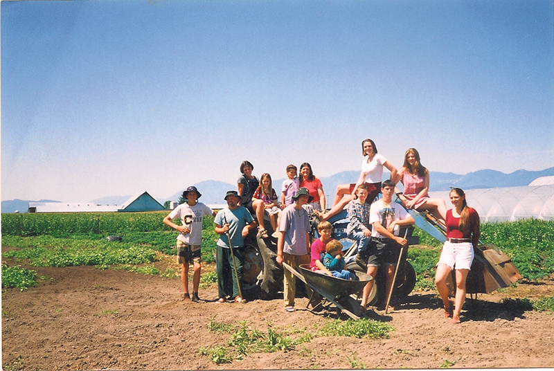 The Forstbauer family, who operate an organic farm in British Columbia.