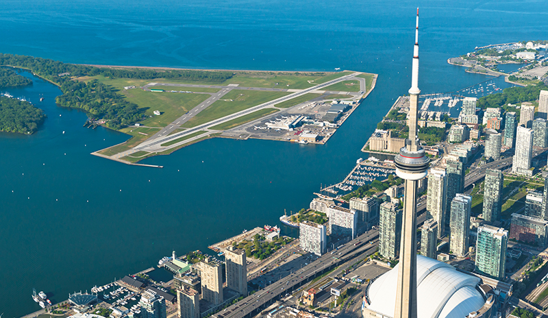 Billy Bishop Toronto City Airport was voted the fourth best airport in the world by Condé Nast Traveler. supplied