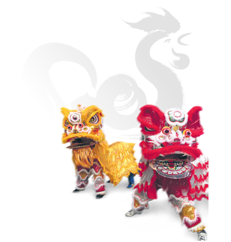 The lion dance is a traditional Chinese dance performed on big occasions, such as the Chinese New Year. Susanne Martin
