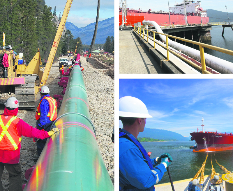 Government approval of pipeline projects, including Kinder Morgan's expanded Trans Mountain line to Vancouver, means more Canadian oil can be exported overseas. Supplied