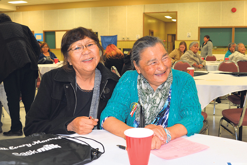 Florence Highway (left) and Evelyn Linklater volunteer with Diabetes Canada's Travelling Diabetes Resource Program, sharing their knowledge about living well with diabetes. supplied