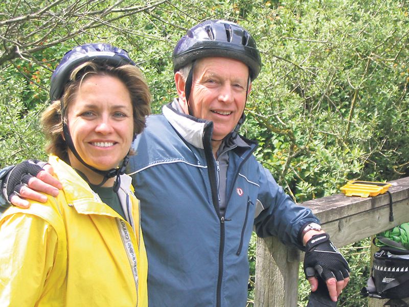 Dr. Hugh Scott shares many memories of riding along The Great Trail with his daughter Jacqueline. supplied