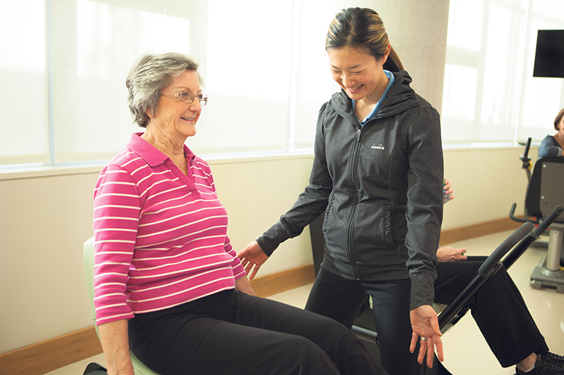 Seniors want to lead healthy lives, and excercise is a popular program offered by retirement residences. supplied