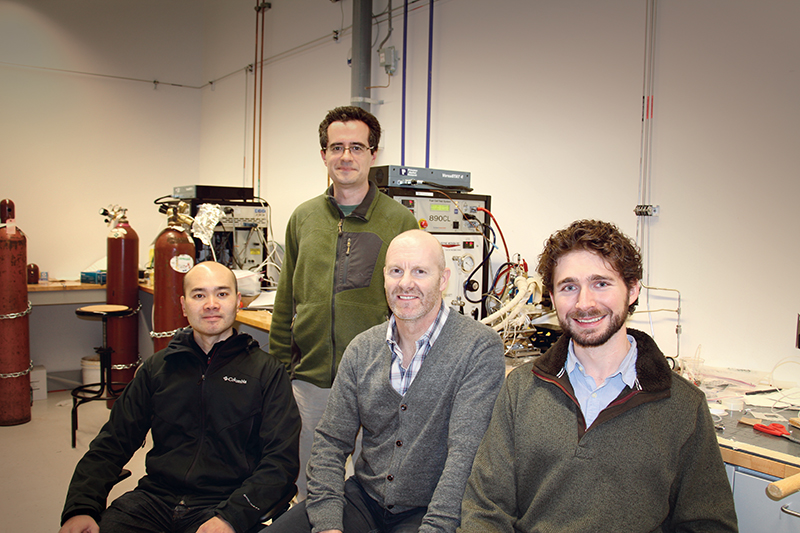 The recent winner of the international Start Up Energy Transition (SET) Award, Ionomr was launched in 2015 by a team from SFU's department of chemistry and the Invention to Innovation (i2I) commercialization program, which aims to give graduates the tools for commercializing inventions. supplied