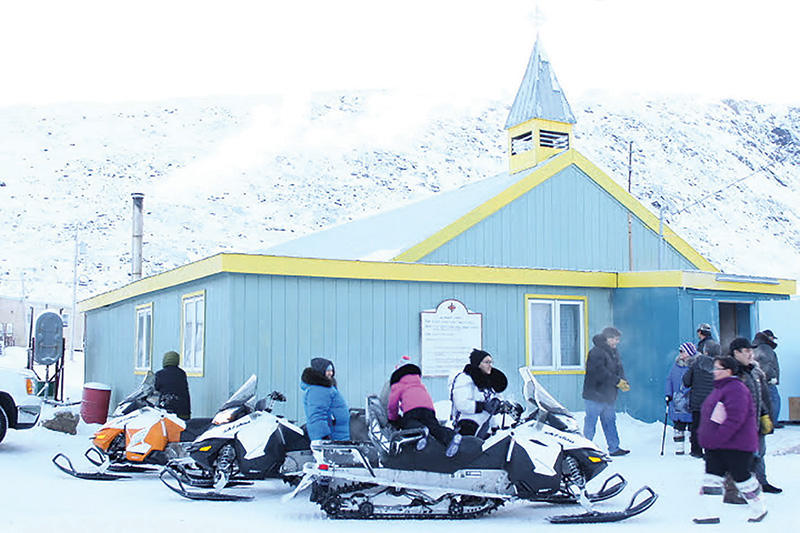 Pangnirtung residents gather at the youth centre. supplied