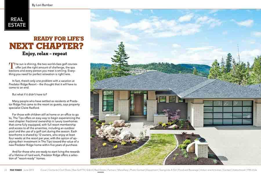 Predator Ridge Tee Times Magazine