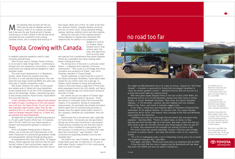 Toyota, a made in Canada story