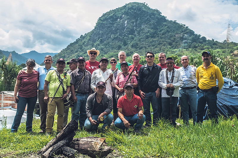 Coffee farmers and Keurig employees get together for a group photo to mark an Employee Source Trip to Colombia. KEURIG CANADA