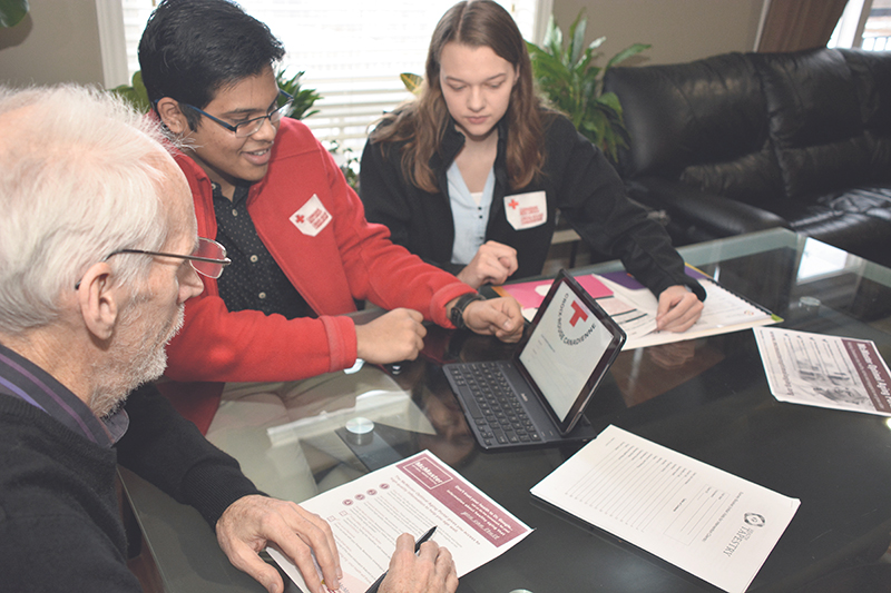 In Canada, the Red Cross is working to support the country's aging population. supplied