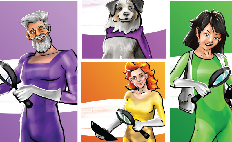 With the motto 'Knowledge is power,' the Competition Bureau introduces a number of fraud-fighting superheroes in the Little Black Book of Scams, inviting Canadians to follow their example and be knowledgeable and vigilant. Supplied