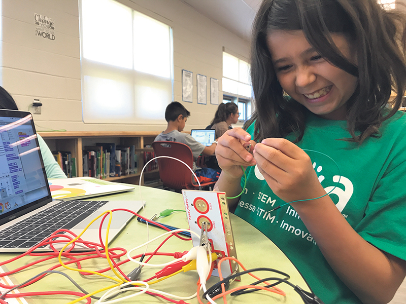 One of the priorities of Actua's network, which runs programs across the country, is to encourage girls to build STEM-related skills. supplied
