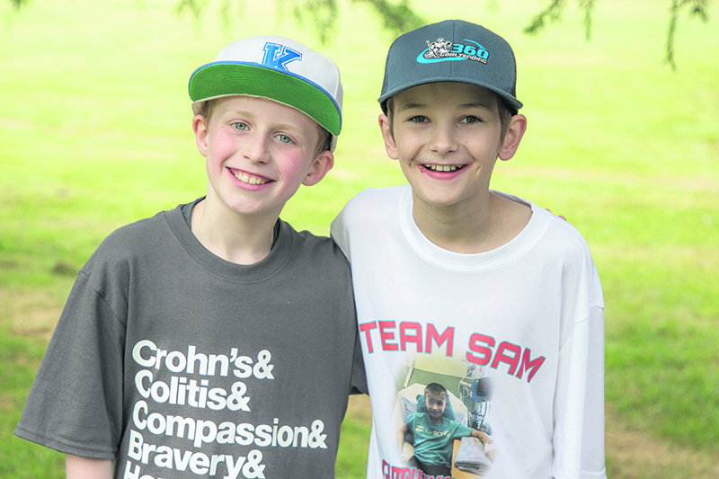 Logan Huttunen and Sam Doucet are enthusiastic supporters of the Gutsy Walk for Crohn's and Colitis Canada, pictured here in 2018. They will be the national honorary chairs for the 2019 event. supplied