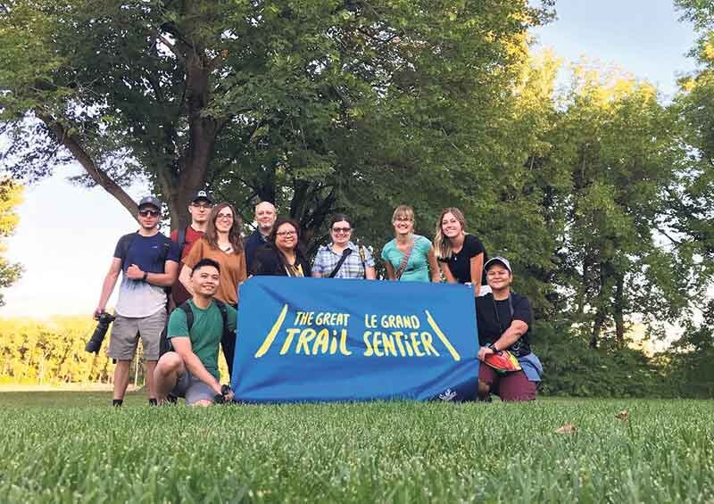 A successful Instameet: Earlier this year, a group celebrated their exploration of the Trail in Winnipeg.  Dayna Robbie