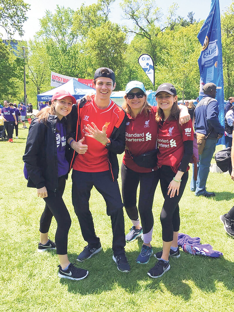 Liam McMaster and his family at the Gutsy Walk, a Crohn's and Colitis Canada event.  supplied