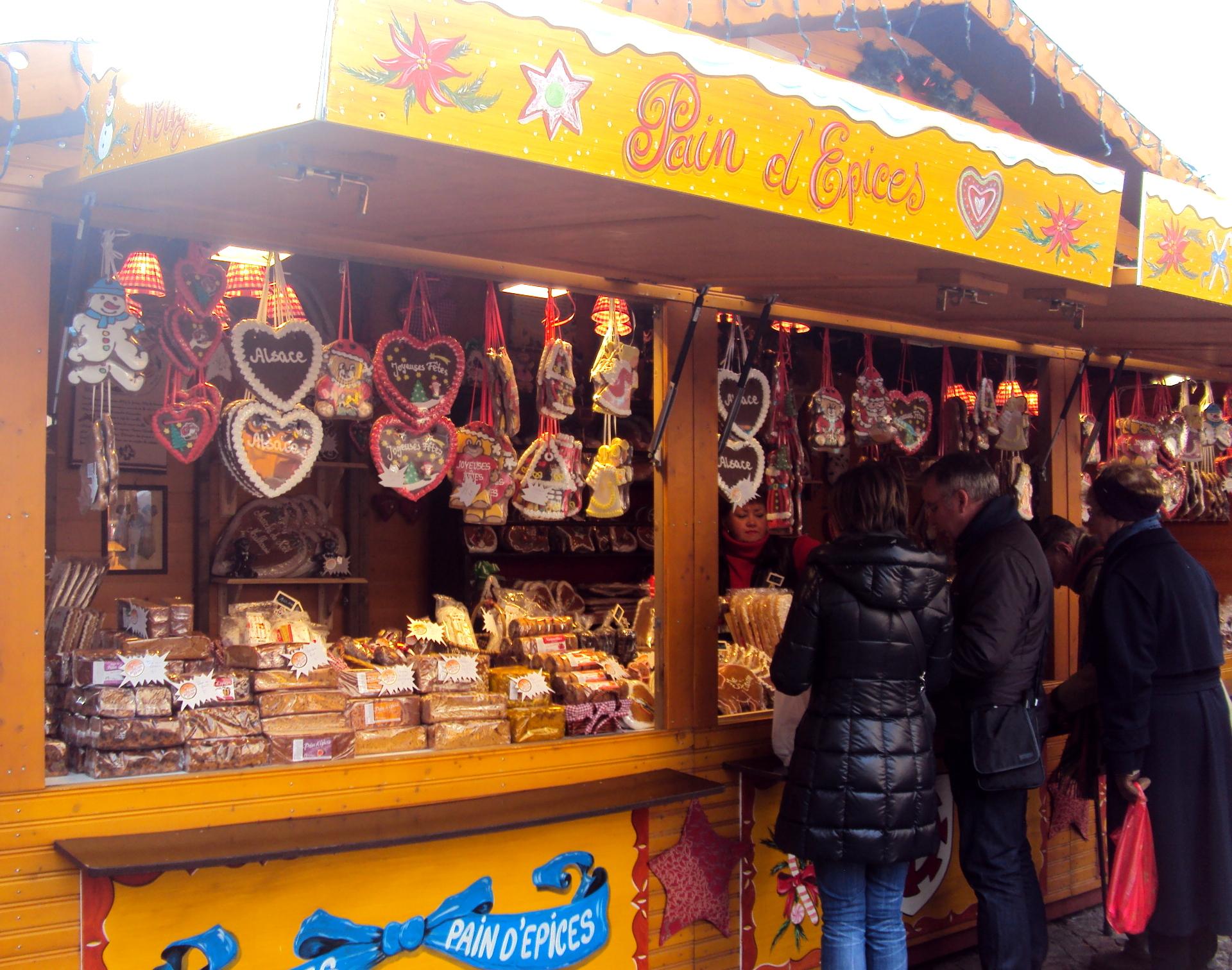 Stand de Pain d'Épices alsacien à Mulhouse