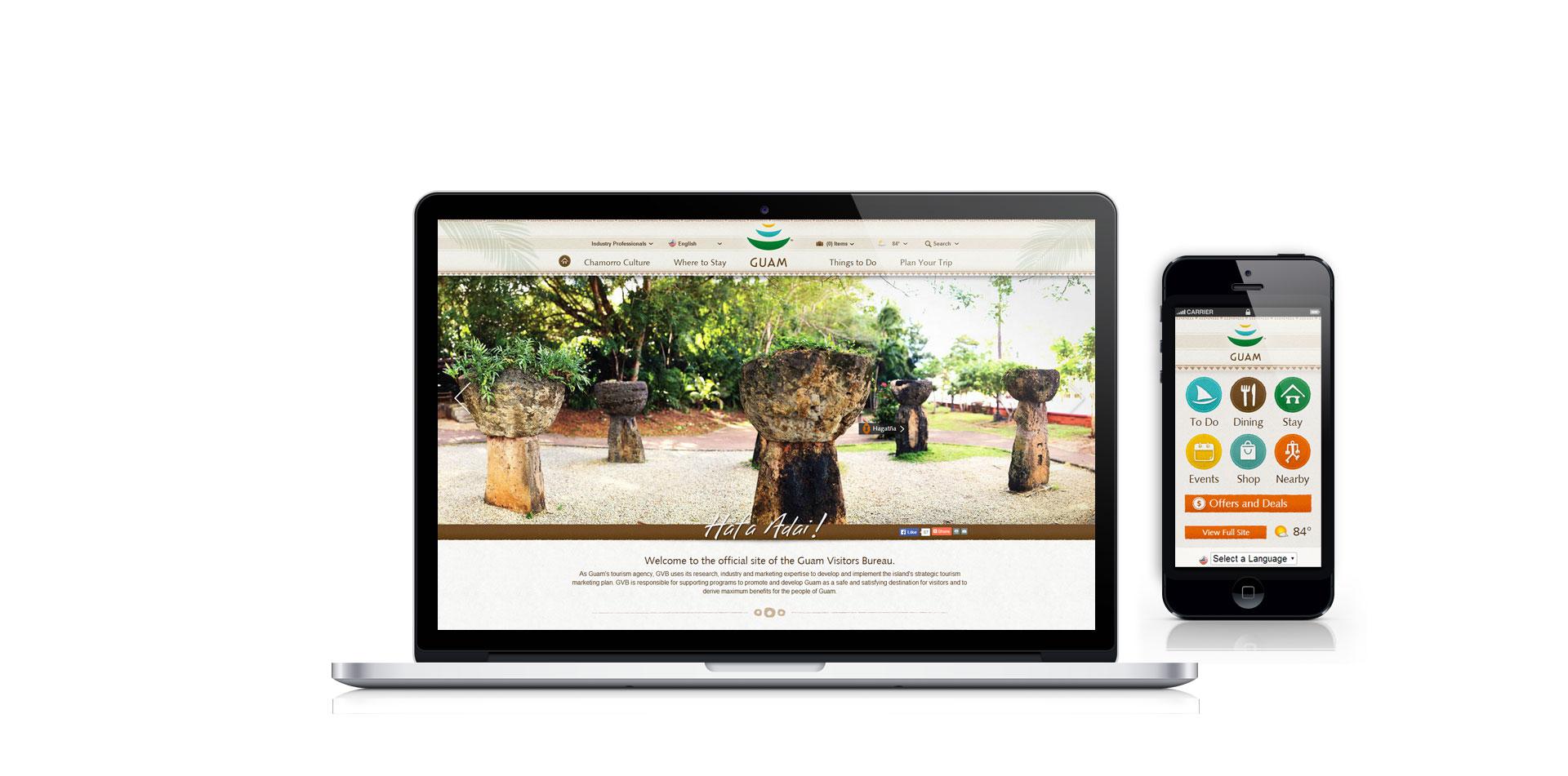 Website & Mobile Design – Creative Director, Lisa Love. Interactive Art Director, Tim McCraley.