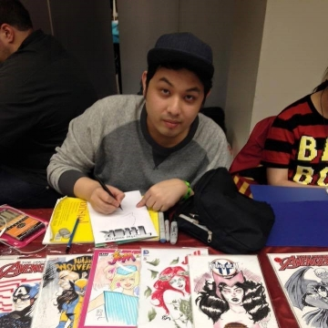 Fabian Lelay - Fabian Lelay is a Brooklyn based creator imported from the Philippines. He began drawing comics with his friends at the age of 13 and briefly tried to venture into fashion when he set foot in college. He has used his fashion experience to design characters. And after meeting Magdalene Visaggio (of Kim and Kim) and Katy Rex (of Jade Street), he decided to jump headfirst into comics with Jade Street Protection Services. If you are interested in seeing more of his stuff online, check him out at @rocketsandpens