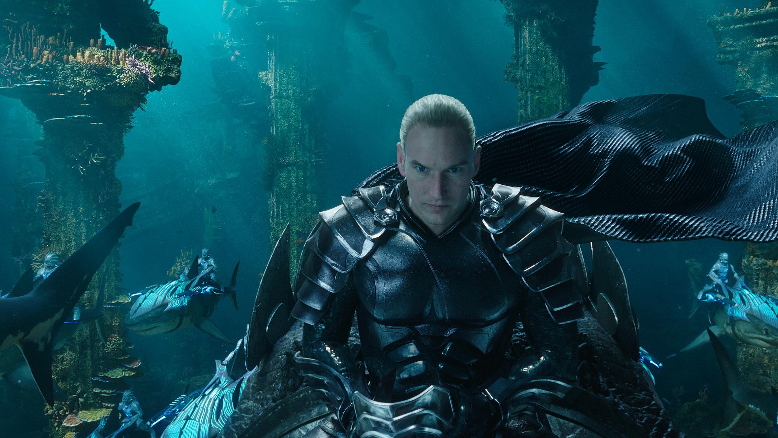 "PATRICK WILSON as Orm/Ocean Master in Warner Bros. Pictures' action adventure ""AQUAMAN,"" a Warner Bros. Pictures release.  Courtesy of Warner Bros. Pictures & © DC Comics"