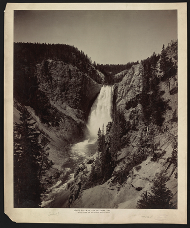 "William Henry Jackson, ""Lower Falls of Yellowstone"" 1892 — Library of Congress"