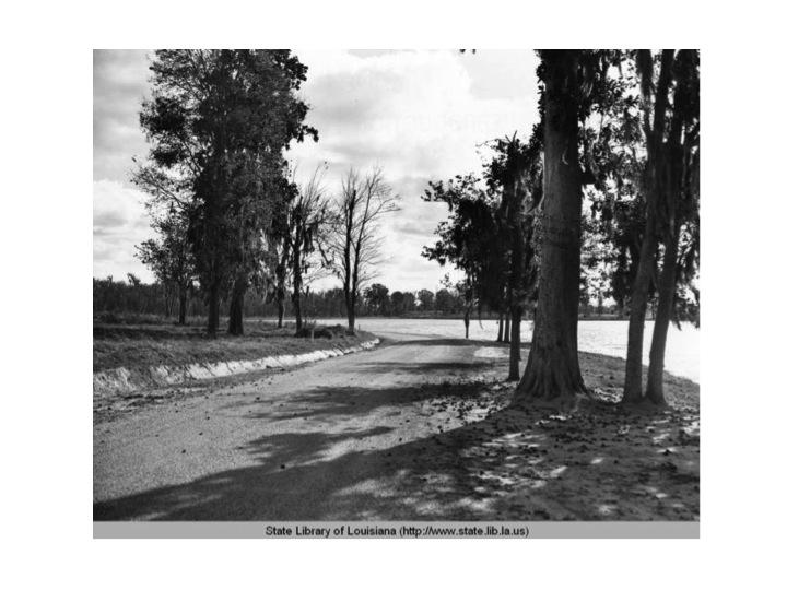 City Park in Baton Rouge, Louisiana circa 1936