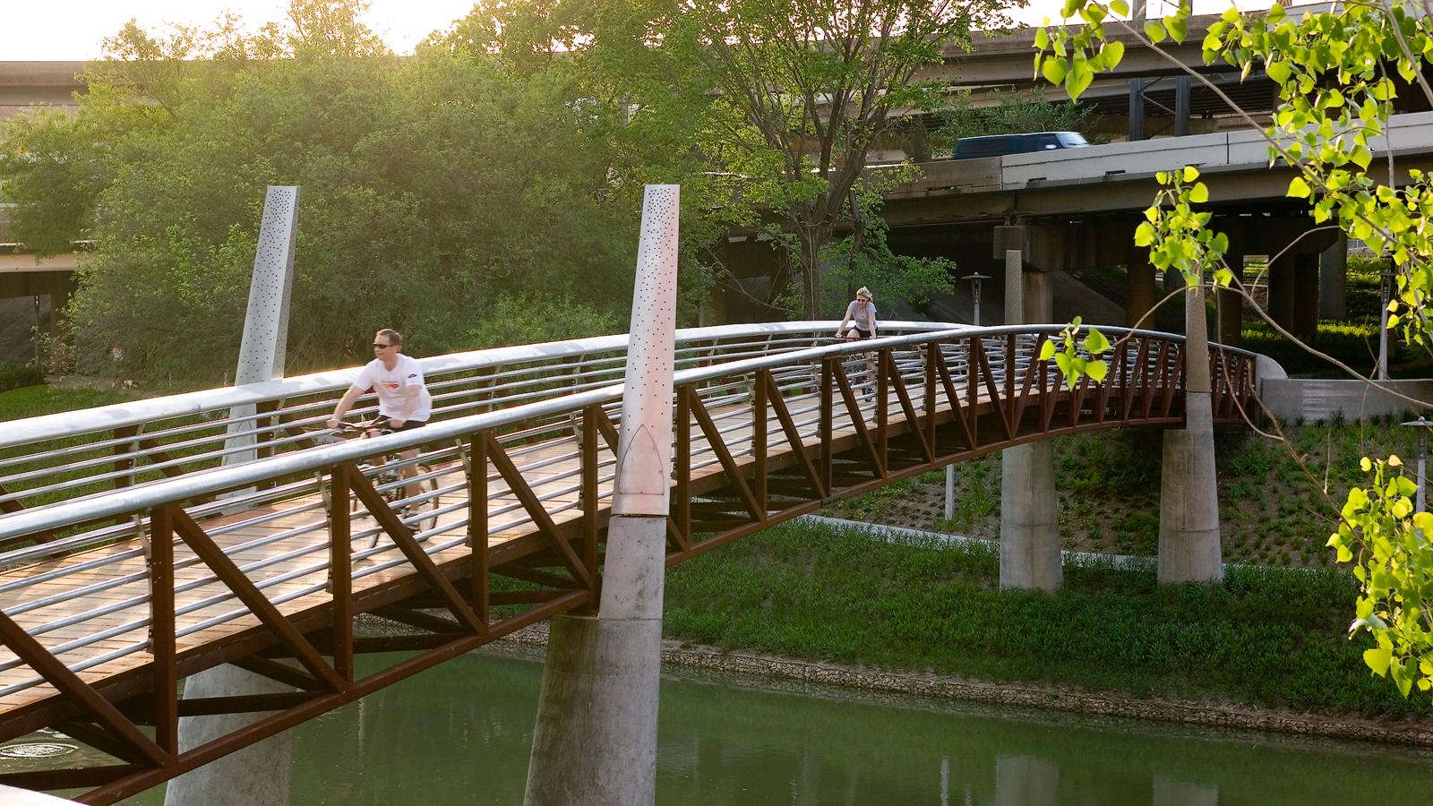 Buffalo Bayou Promenade in Houston
