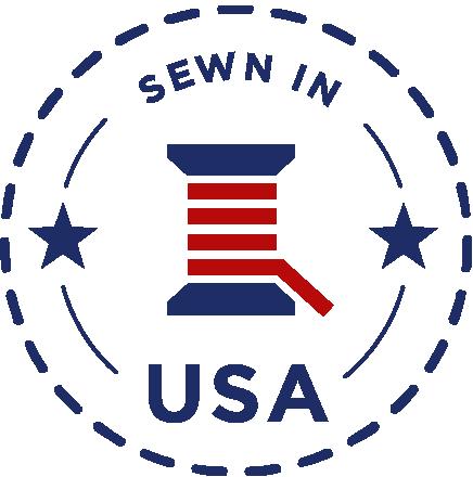 sewn in USA logo