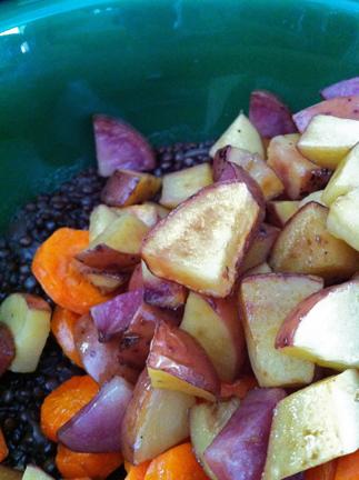 Add roasted potatoes