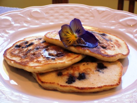 Blueberry Pancakes at Main Street Bed and Breakfast. Photo: Main St. B&B