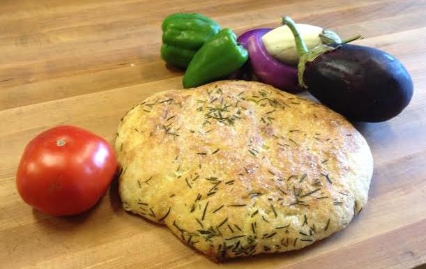 Fresh Focaccia and Fresh Veggies
