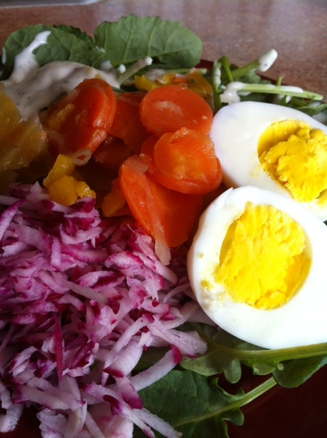 A Delicious Radish Salad Made With Local Produce & Eggs