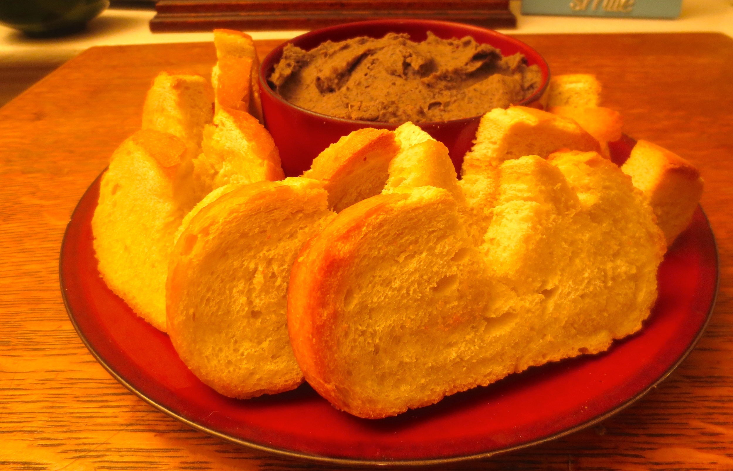 Serve Heart Shaped Toasts With Bean Dip