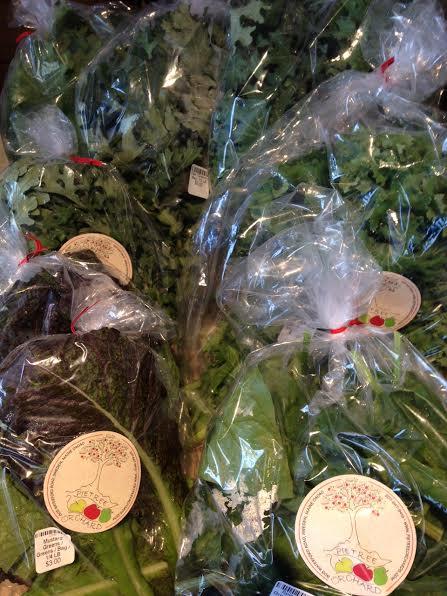 Bagged Greens at Farmers' Markets