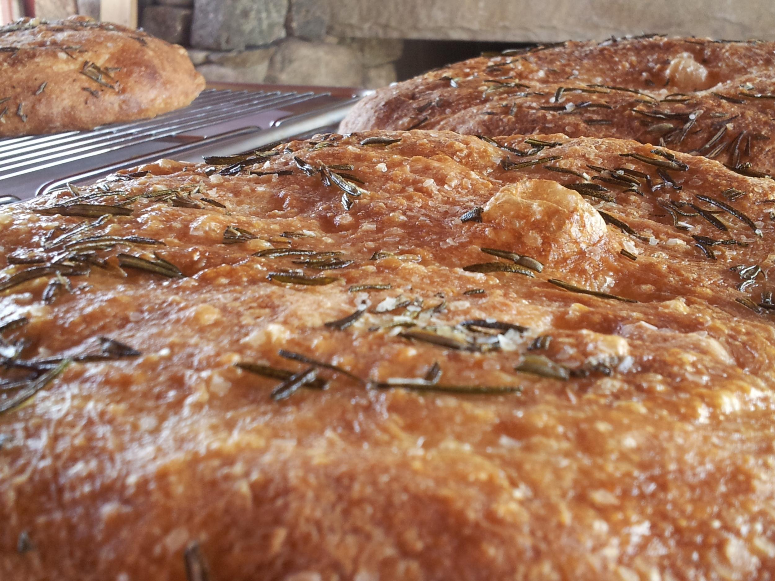 Focaccia Fresh From The Outdoor Brick Oven!