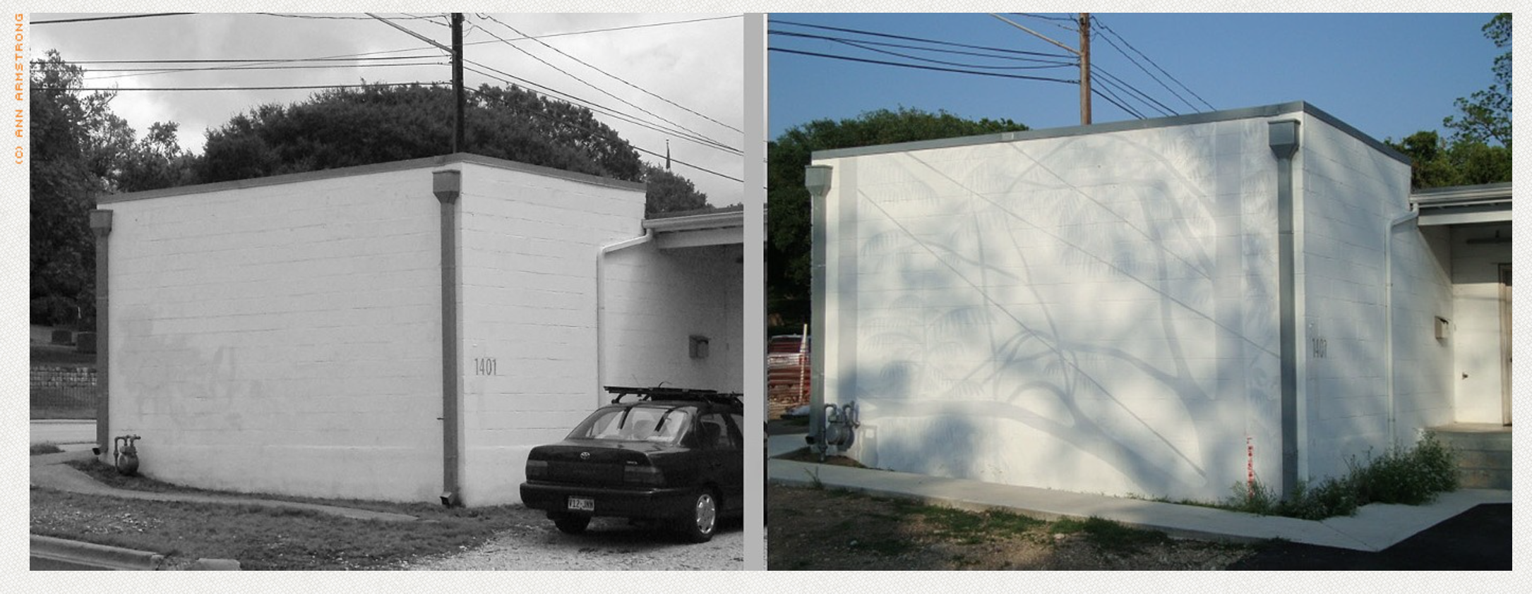 Shadow Mural @1402 East 7th, 2009-2016, Not a bad run for something that was meant to be temporary.