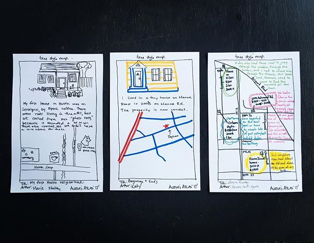 Maps that explore ideas related to home. #handdrawnmaps #eastaustinstudiotour