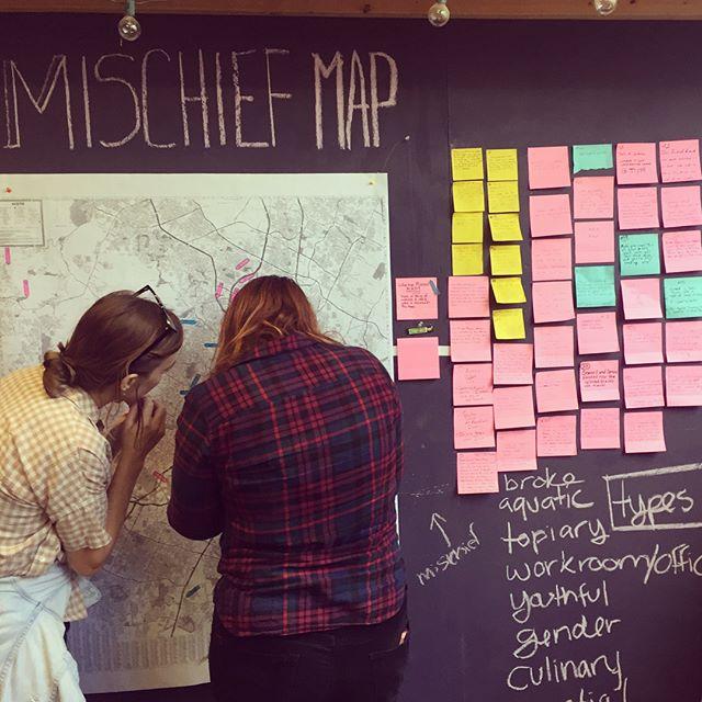 Snippets from the Mischief Map. #mischiefmap #austinsatlas #eastaustinstudiotour