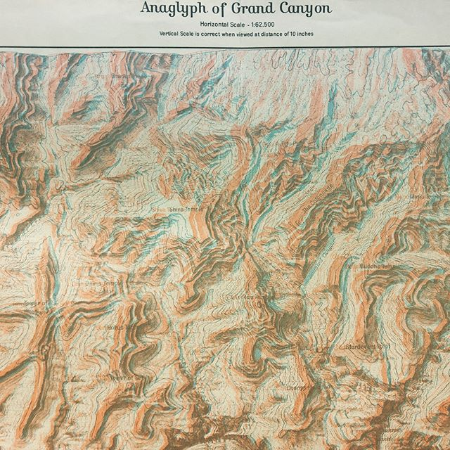 Exploring a few fun cartography books at Texas State's geography dept. #anaglyph #cartography #geography