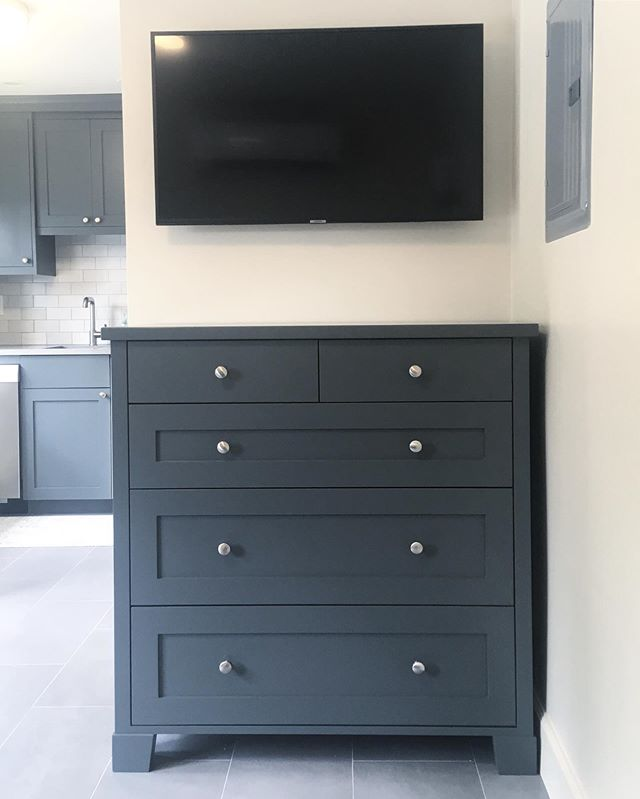 Drop off this painted dresser today at a clients pool house we worked on last summer.