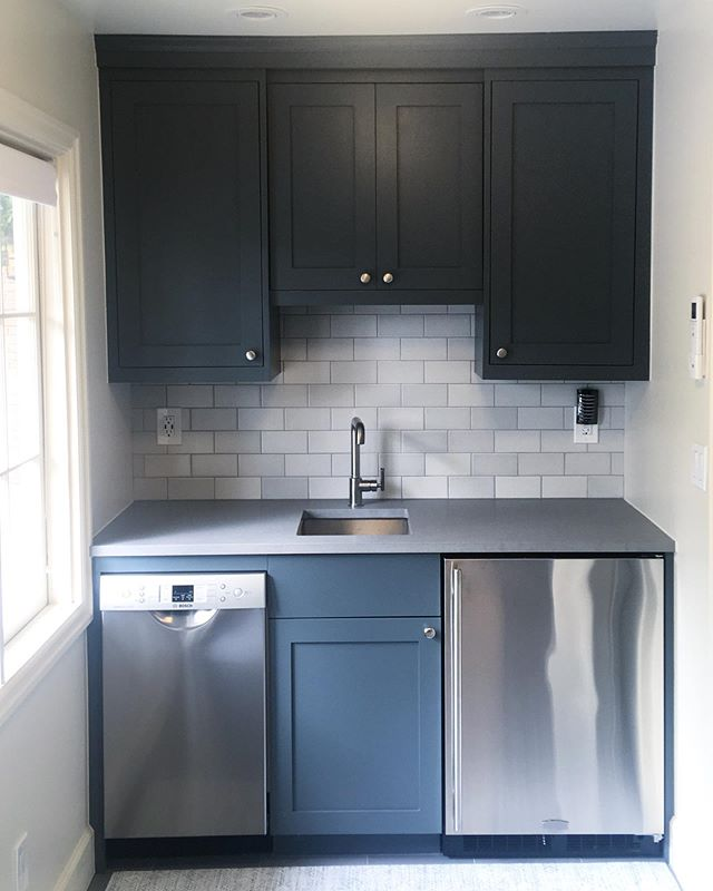Pool house kitchenette we finished up a while back.