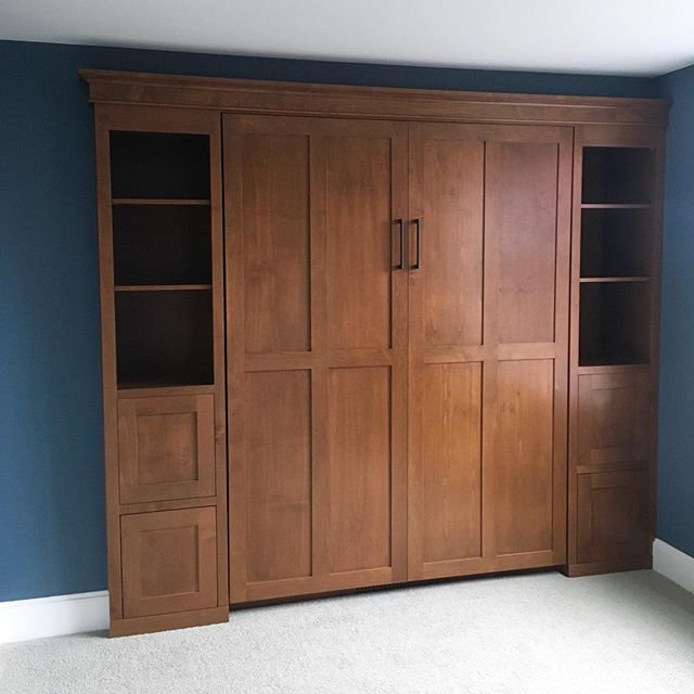 I was very happy to wrap up this Murphy bed project yesterday. The project was a nightmare but the clients were amazing.