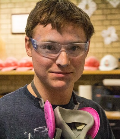 When goggles go on,  APM Sean is all biz.