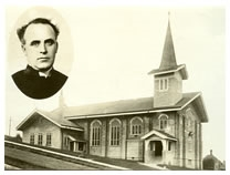 Sacred Heart Parish, 1912. Fr. Carmondy pictured.