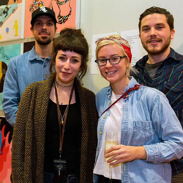 @thedroops at the opening reception of their show with CMAD in 2016.