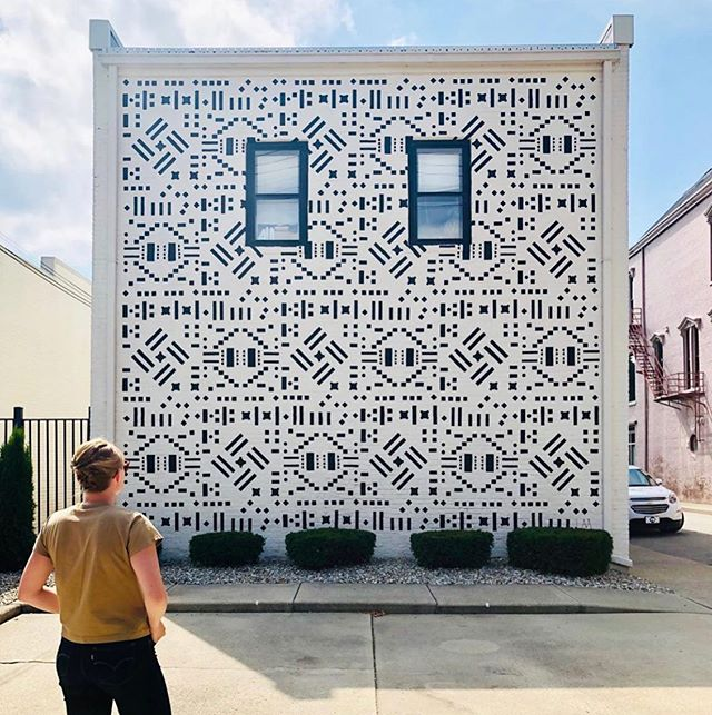 "We are beyond excited about this grant project! ""Learning Patterns"" by @laa_office has truly transformed 6th Street. Congratulations to @artsincolumbus @411gallery on a great project! #columbusindiana #artsincolumbus"