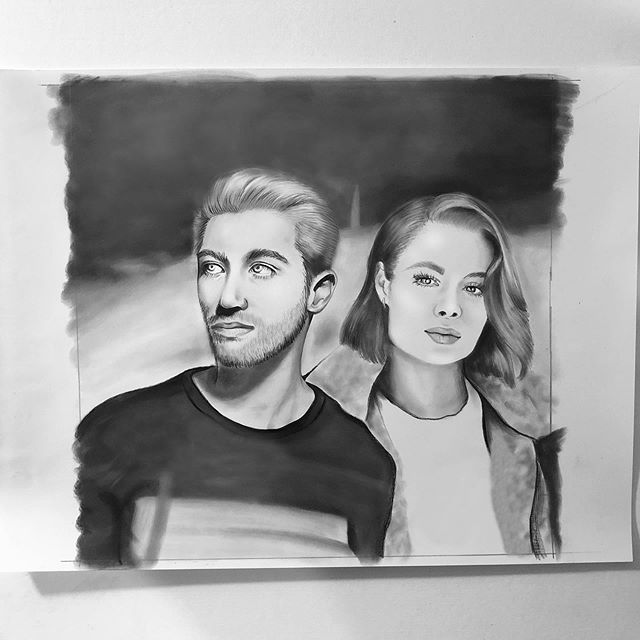 let it be me 🎧   swipe for video 🖤 . . . @justinjesso  @ninanesbitt  #justinjesso #ninanesbitt #drawing #timelapsedrawing #music